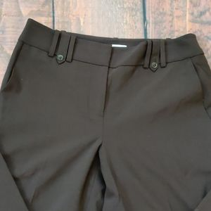 Loft Ann Dark Brown Dress Pant